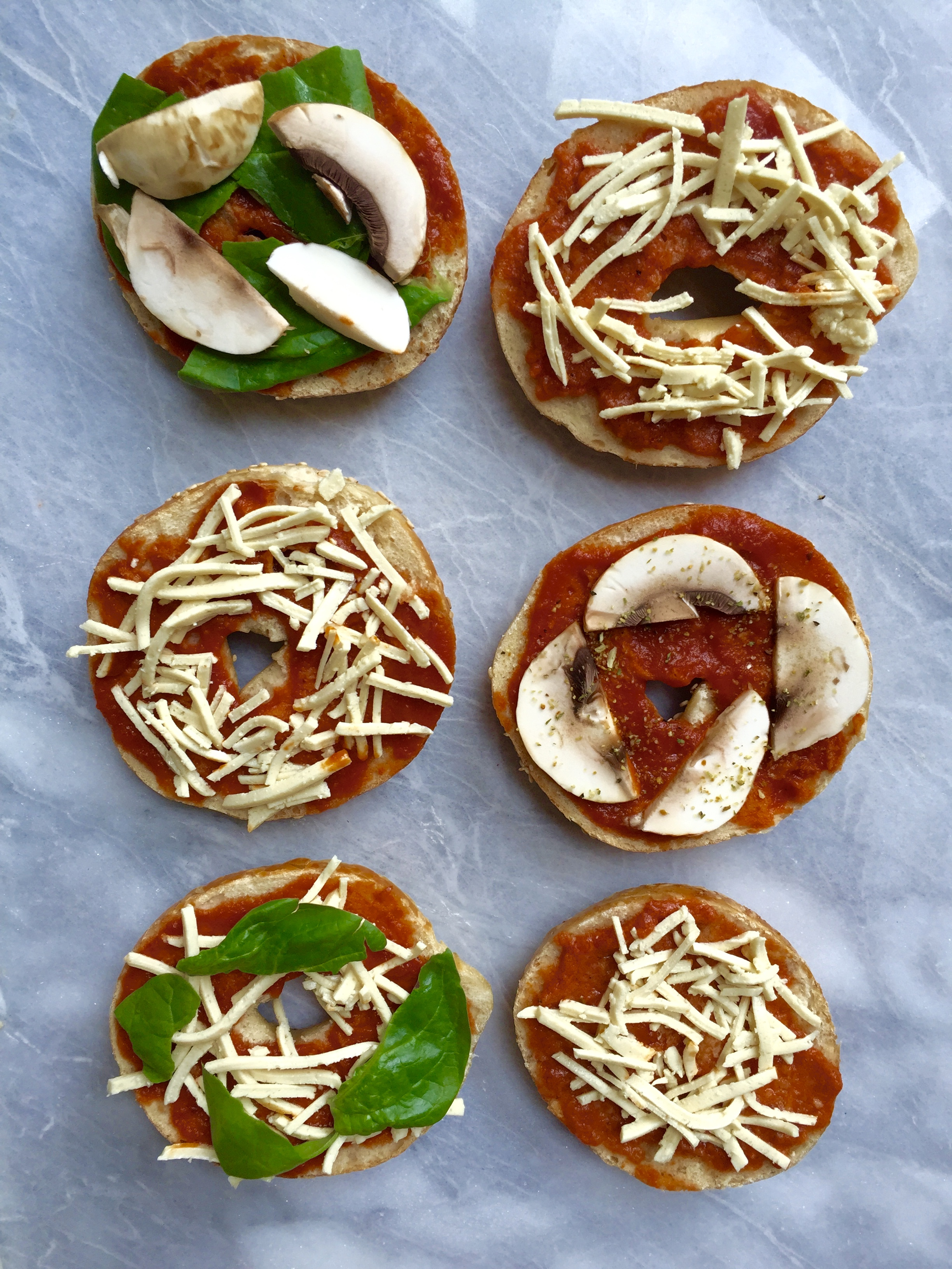 Vegan Pizza Bagels