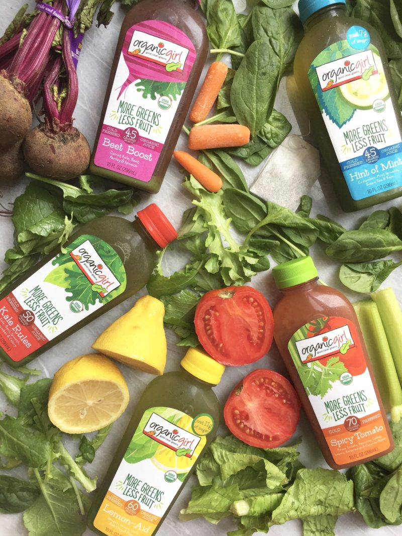 Organic Girl More Greens Less Fruit Juices