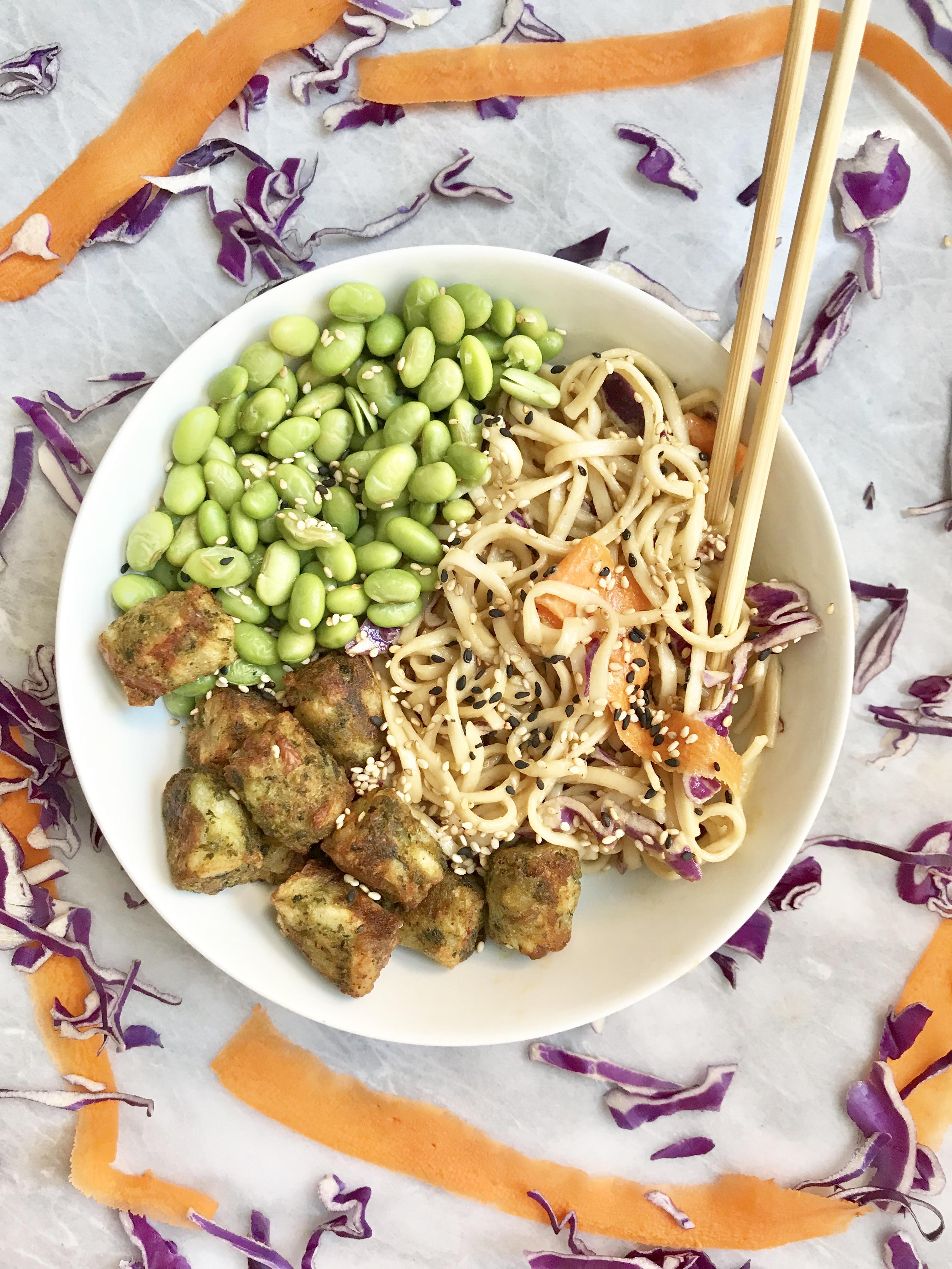 Soba Noodle Kale Puff Bowls