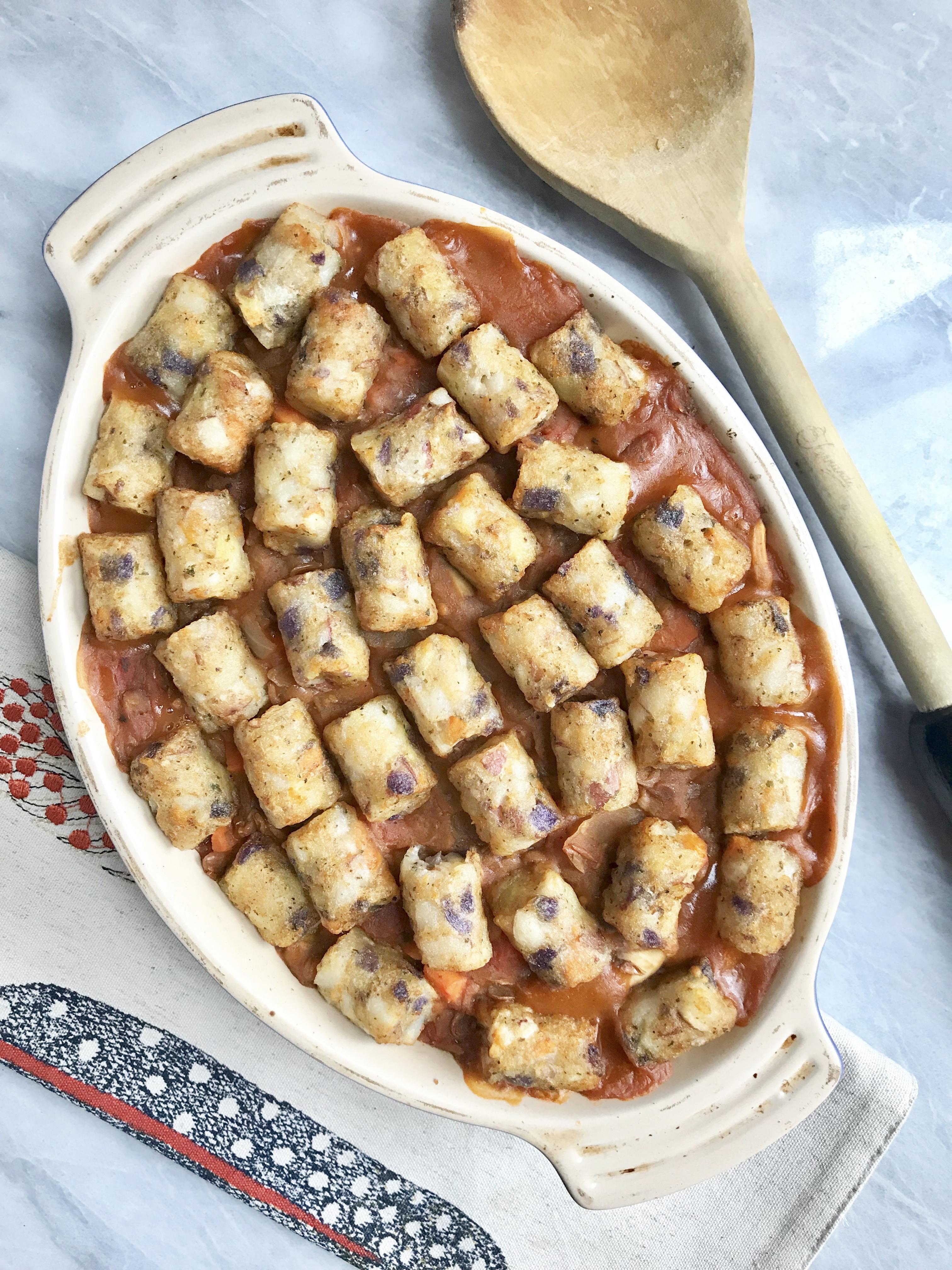 Potato Puff Lentil Shepard's Pie