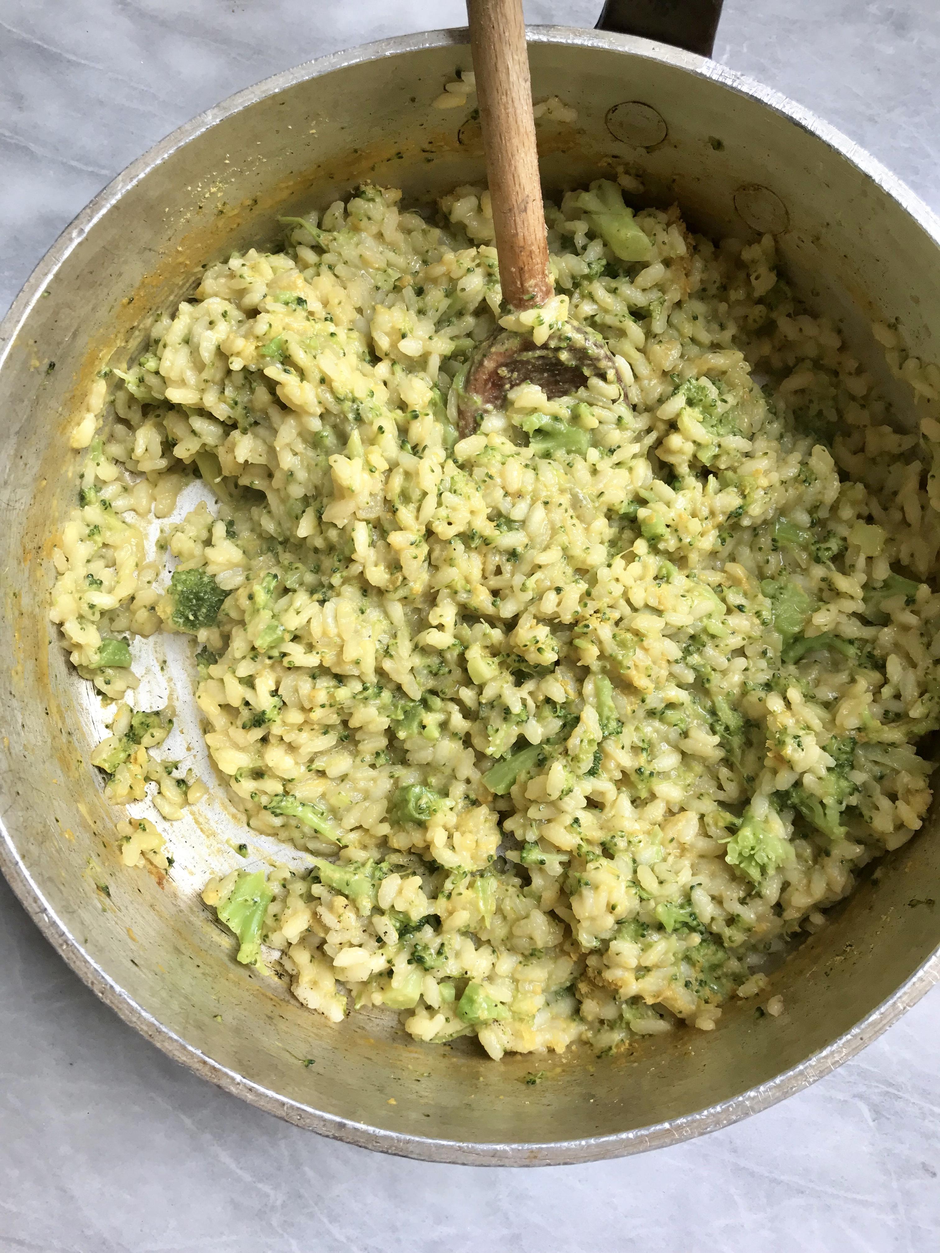 """Broccoli """"Cheddar"""" Risotto"""