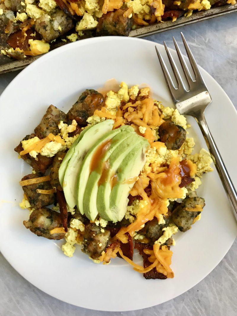 Loaded Breakfast Kale Puffs