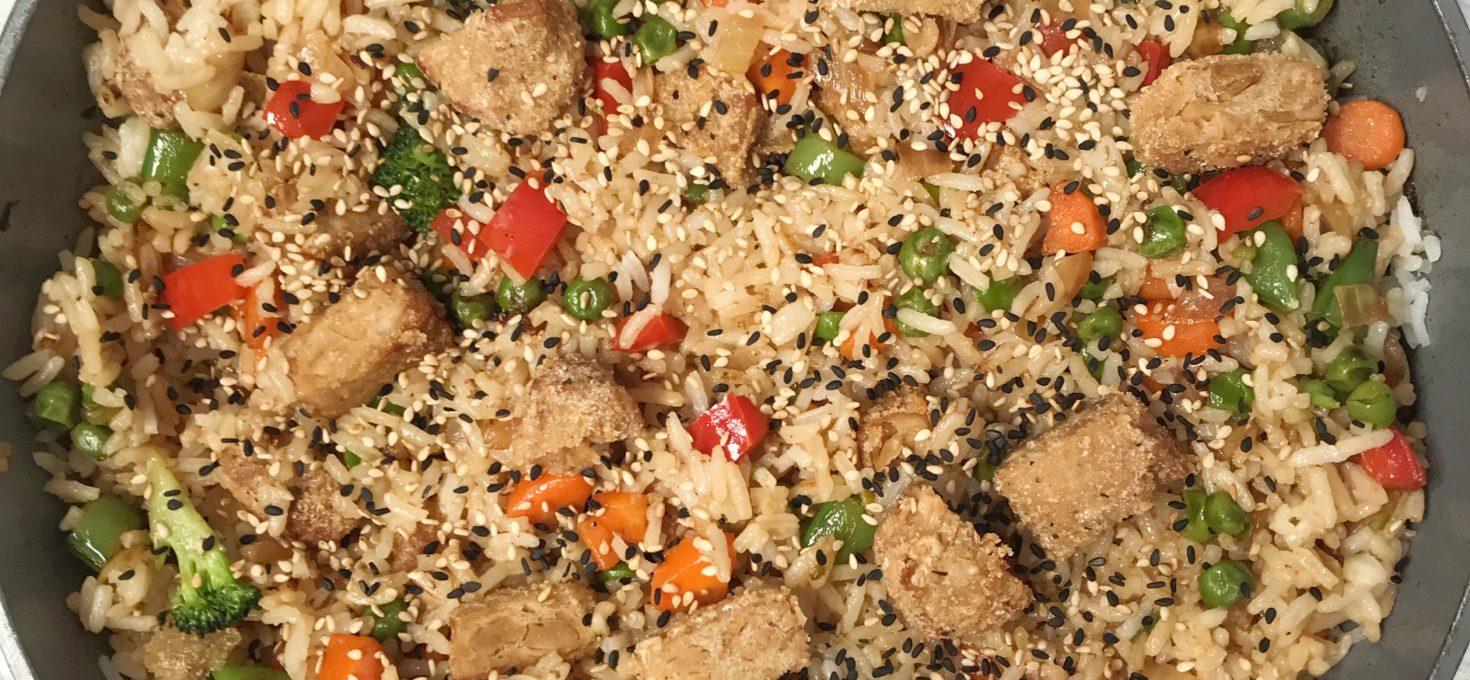 Chick'n Veggie Fried Rice