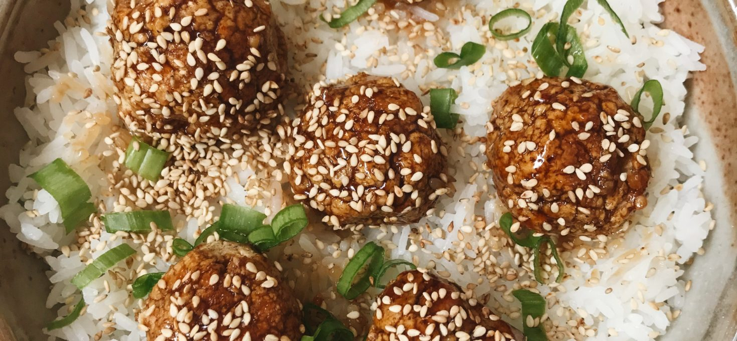 Asian Inspired Chickpea Meatballs