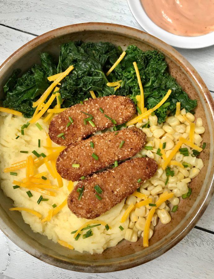 BBQ Chick'n Mashed Potato Bowls