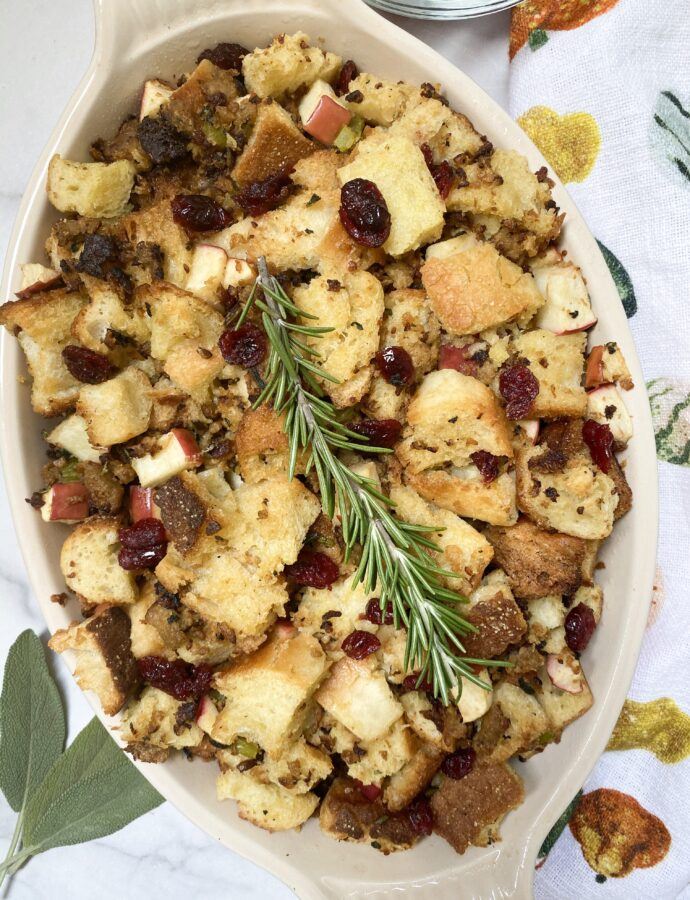 Vegan Sausage & Apple Stuffing