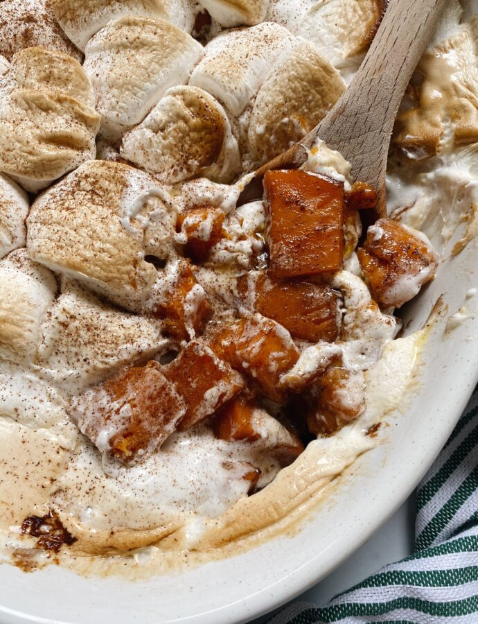 Candied Sweet Potatoes with Marshmallows