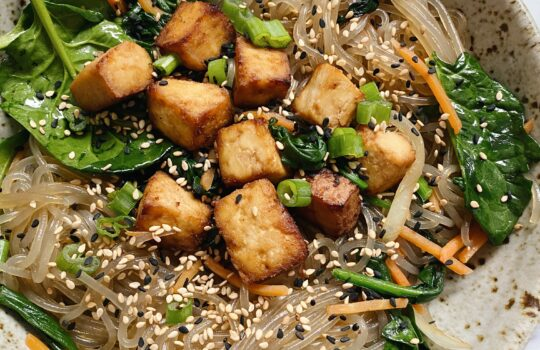 Tofu With Glass Noodles & Vegetables