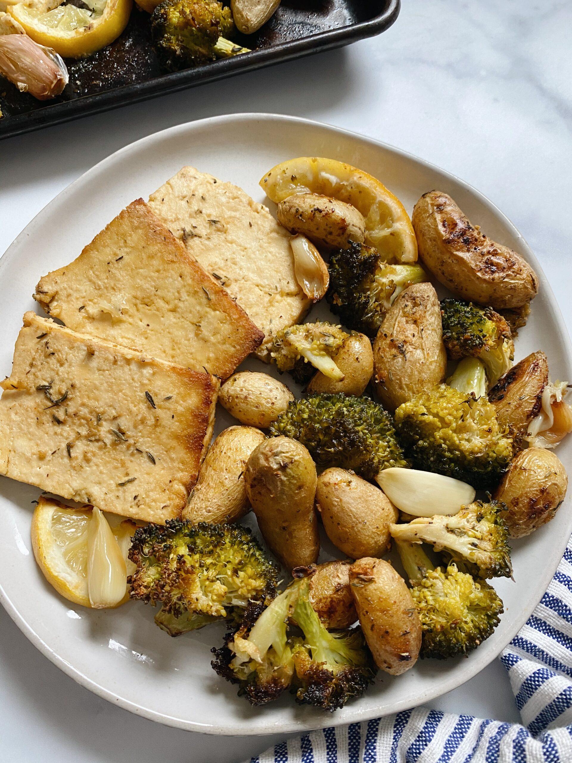 Sheet Pan Tofu, Potatoes & Broccoli