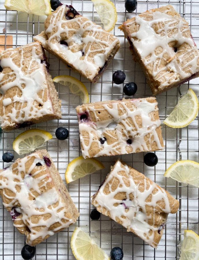 Lemon Blueberry Cake Bars